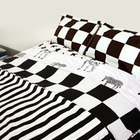 Wholesale White Full Bedroom Set - Wholesale-Black White Bedding sets Super King,Printing Duvet Quilt cover set,Bedroom Bedding,Contains quilt Cover and pillowcase#ZY38