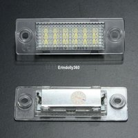 Discount vw led number - Super bright 2x LED License Number Plate Light Lamp For VW Cadillac Transporter Golf Error Free