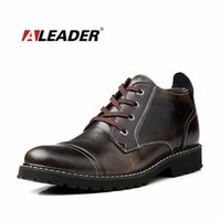 Wholesale Warm Dress Shoes For Men - Wholesale-2016 British Classic Dress Boots Men Leather Oxfords Shoes Winter Casual Fur Ankle Boots for Man Waterproof Warm Shoes Botas