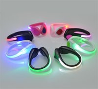 Wholesale Wholesale Shoes Clips - LED Luminous Shoe Clip Light Night Safety Warning LED Bright Flash Light For Running Cycling Bike