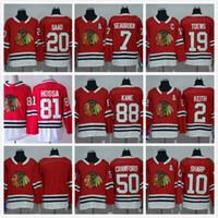 b49d50ea7 Cheap  19 Jonathan Toews 88 Patrick Kane Chicago Blackhawks NHL Ice Hockey  Home Red Road White Black Green Men Sports Stitched Jerseys China