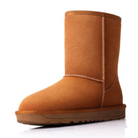 Wholesale Winter Fur Wedge Boots - Fashion Women Snow Boots High Quality Genuine Leather Warm Fur Winter Boots Woman Shoes Botas Femininas No. XDX-005
