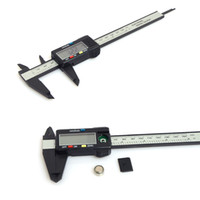 karbon göstergesi toptan satış-150mm 6 inç LCD Dijital Elektronik Karbon Fiber Sürmeli Kaliper Ölçer Mikrometre