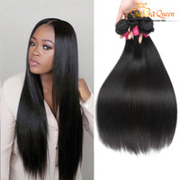 Wholesale fast shipping virgin brazilian hair resale online - Virgin Brazilian Hair Straight Bundles Gaga Queen Extensions Unprocessed Human Hair Weaves Dyeable Best Hair Weave Fast Shipping