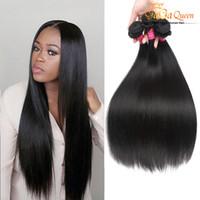 Wholesale fast shipping virgin hair for sale - Group buy Virgin Brazilian Hair Straight Bundles Gaga Queen Extensions Unprocessed Human Hair Weaves Dyeable Best Hair Weave Fast Shipping