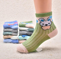 Wholesale new baby arrival - 2017 New Arrival Boys & Girls Autumn & Winter Knitted Cartoon Socks Kids Cotton Soft Socks Baby Candy Color Brand Socks