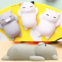 Wholesale hot heal - Hot Mixed Color Soft Squishy Cat Healing Squeeze Fun Kids Toy Gift Stress Reliever Lovely Decor