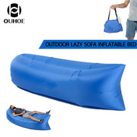 Wholesale Toy Boat Wholesale - Fast Inflatable Air Sleeping Bag Waterproof Lazy Sofa Bed Festival Camping Hiking Travel Hangout Beach Bag Bed Camping Banana Couch 2017 New