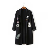 Wholesale Black Shawl Collar Cardigan - Black Long Cardigan Women Sweaters Long Sleeve Shawl Collar Winter Cardigans Women