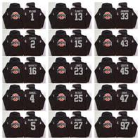 Wholesale Hooded Sweatshirt Xl - Ohio State Buckeyes Men Jerseys 15 Elliott 97 Joey Bosa 12 C.JONES 16 BARRETT 1 B.Miller Hoodie Hooded Sweatshirt Jackets Jersey