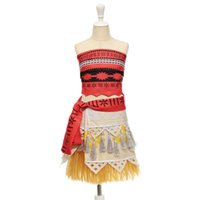 3-10T stage dresses - Hot Movie Princess Moana Cosplay Costume for Kids Moana Princess Dress Children Halloween Costume Party Dress