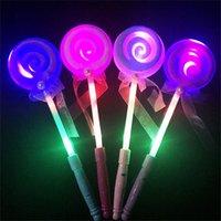 Wholesale Led Lamp Es - 33.5 cm Tricks Es Children Magic Light Bar Flash LED Toys Toy Lamp Fairy Magic Wand Children's Stick Random Colors for Party