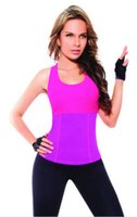 Großhandel-Hot Shapers Stretch Neopren Abnehmen Weste Slim Unterwäsche Body Shaper Control Weste BH Taille Korsetts Body Shirt Frauen