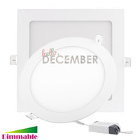 Wholesale 225 led - 30W 21W 18W 15W 12W 9W Dimmable Round   Square LED Panel Light 120 145 170 200 225 300MM Recessed LED Ceiling Down Lights