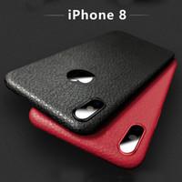 Wholesale Wholesale Black Felt - Ultra-Slim Lightweight Luxury Business Simple Style Leather Feel TPU Case for iPhone 8