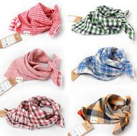 ingrosso bandane sciarpa bibs-Bavaglino Bandana in cotone pettinato con bottoni in cotone bavaglino pettinato