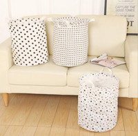 Wholesale Wholesale Baskets For Clothing - INS Laundry Bag Kids Room Storage Bags for Toys Foldable Laundry Basket star circle design Hamper Laundry Bucket with Handle KKA2319