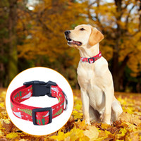 Barato Leash Acessórios-Conjunto de Dog Leash Xmas Gift de Natal com ajustável Cat Collar Traction Rope Suit Pet Accessory