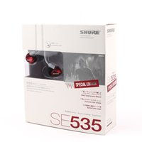 teléfonos celulares rojos al por mayor-SE535 Auriculares intrauditivos para teléfono celular (rojo) Metálico Bronce Un envío de calidad a la gota