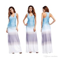 Wholesale Long Tank Tops Cheap - wholesale cheap price make deal summer style tank top ombre sleeveless long maxi dress for women