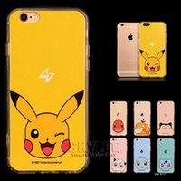 Wholesale Iphone Cases Pikachu - Poke Pikachu Case For Iphone 7 Case Ultra-thin Soft TPU Back Cover Case For Iphone 7 Plus 5S 6S Plus With 50PCS OPP Package