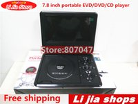 Wholesale Dvd Evd Player - Wholesale- Free shipping 7.8 Inch Player EVD DVD Portable EVD with tv players card reader usb game
