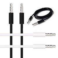 bianco nero 1m 3ft 3,5 millimetri maschio a maschio aux cavo audio cavo accessori per iphone 4 5 6 altoparlante mp3 mp3