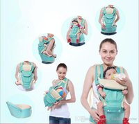 Barato Venda Quente Do Estilingue Do Bebê-3pcs Hot Sale Comfortable Fashion Infant Sling Soft Natural Wrap Sling Baby Backpack Hipopótamo respirável Kangaroo saco bebê embrulho B352