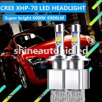 xenon h4 kit auto großhandel-1 Satz eingebaute EMC Cree XHP-70 LED Scheinwerfer Kit Autolampen 9005 9006 9012 H4 H7 H9 110W 13200LM 6000K Strahl ersetzen Xenon Halogenlampe