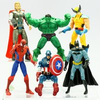 Wholesale The Avengers Marvel Hero Captain Iron Man the Hulk quot Action Figure Doll Toys Movie Carton hot set