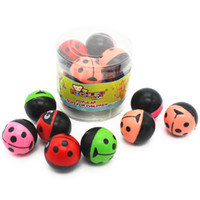 Wholesale Fun Safes - Kid Toys Fun Elasticity Bouncing Balls Lady Beetles Pattern For Boys & Girls 100% Safe Toy 8pcs 1.2 Inch Gender Neutral Bauble ZJ-006