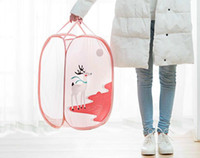 Wholesale underwear container - Housekeeping Foldable Clothes Storage Baskets Mesh Washing Dirty Clothes Laundry Basket Portable Underwear Sundries Organizer Toys Container