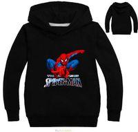 Wholesale Spiderman Shirts For Girls - 2017 Children Spiderman Sweatshirt For Boys Hoodied Swetshirt Kids Long Sleeve T-shirt Sport Tops Girls Pink Tees For Baby Girls