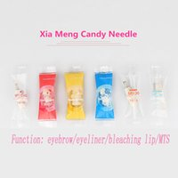 Wholesale Dedicated Tattoo - Charmant 3 Dedicated Needles Permanent Makeup Embroidered Needle Microneedles Eyebrow Bleaching Lips Tattoo And Tattoos Needles