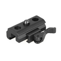 airsoft sling mount großhandel-Tactical Airsoft Hunting 21.2mm Schnell abnehmbarer Sling Swivel Mount Adapter für Weaver Picatinny Rails CL33-0210