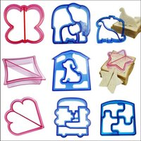Sandwich Bread Cutter Dinosaur Dog Butterfly Star en forme de moule Baking Cake Pain Toast Mold Maker Cake Outils OOA2331