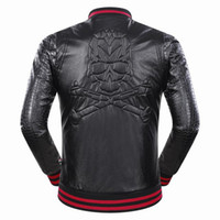 Wholesale Business Man Winter Coat Black - New Brand Motorcycle Leather Jackets Men Autumn and Winter Leather Clothing Men Leather Jackets Male Business casual Skulls Coats