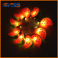 Fashion Holiday Lighting 10 LED Cool Watermelon String Lights Wedding Garden Party Baby Kids Décoration de chambre à coucher