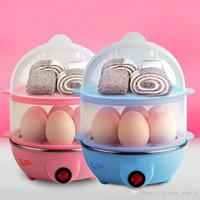Wholesale Steamer Cook - Multi-function Electric Egg Cooker for up to 7 Eggs Double Layer Cooker Boiler Steamer Cooking Tools Kitchen Utensil