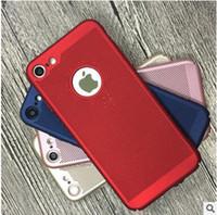caso oco do iphone da parte traseira venda por atacado-Mais novo dissipação de calor oco respirável armadura slim capa dura pc case para iphone x xs max xr 7 8 6 plus samsung s10 s10e s9 s8