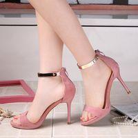 Wholesale Gladiator Style Heels - 2017 New style high heels women sandals open toe sandals female thick heel platform summer shoes big size