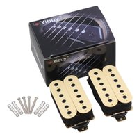 Wholesale Electric Double Neck Guitar - Wholesale- Yibuy Electric Guitar Neck Bridge Pickup Humbucker Double Coil Ivory High Output