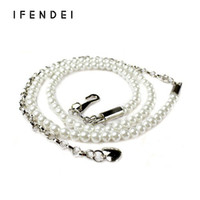 Wholesale Thin Korean Girls - Wholesale- IFENDEI Belt Waist Women Korean Wild Dress Sweet Girl Colored Pearl Waist Chain Ladies Thin Belt Evening Party Ceinture Femme