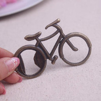 Wholesale Vintage Wine Bottles - Vintage Metal Bicycle Bike Shaped Wine Beer Bottle Opener For Cycling Lover Wedding Favor Party Gift Present
