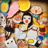 Wholesale Cute Pin Badges - Cartoon Acrylic Badge Brooche Shirt Collar Pin Brooch Lovely Fruit Cute Lapel Pin Brooch Small Button Brooches for Garment Decoratio