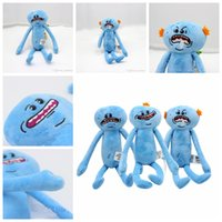 Wholesale Cheap Stuff For Kids - Wholesale cheap price 9.8inch(25cm) Rick and Morty Happy Sad Meeseeks Stuffed Plush Toys Dolls For Kids Gift 3design