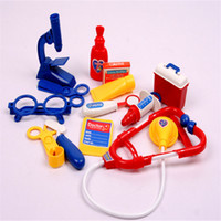 Wholesale Toy Nurse Kits - Simulation Medicine Box Doctor Toys Set Doctor Nurse Medical Kit Playset Care Box Doctor Tools Toys for Kids Child