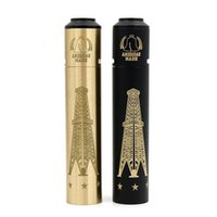 Wholesale Mechanical Mod Free - 100% Copper Rig V3 Full Starter Kit With Terk RDA 18650 Battery Mechanical Mods 4 Colors Avialable DHL Free Shipping