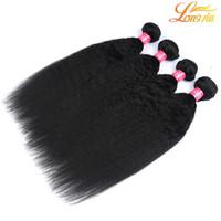 saç örgüsü şirketi toptan satış-Longjia Saç Şirketi Işlenmemiş 100% Bakire Brezilyalı İnsan Saç Dokuma Yaki Düz Örgü 3 Demetleri Saç Atkı Doğal Renk Ücretsiz Kargo