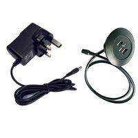 prise en main de bureau achat en gros de-Britannique BS Plugs UK Standard 5V2A Adaptateur de puissance Home Theatre Meubles Matériel Accessoires Canapé Sièges Mobilier De Bureau USB Chargeur Socket